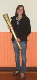 olympic torch in glenfarg village hall