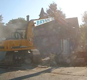 Demolition on a sunny day
